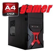 Computadora Cpu Gamer Amd A4 7.8ghz X2 8gb Ram 500gb Radeon
