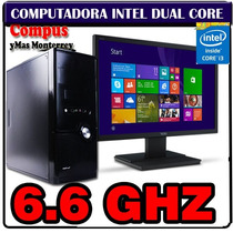 Pc Intel Quad Thread 6.6ghz 4gb Ram Led 18.5 Hdmi Vga 500gb
