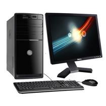 Computadora Hp Dual Core 500gb 2gb Dvd Monitor 17 #c Ndd