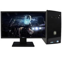 Computadora Space Gamer Intel Core I7 + Monitor Led 19.5