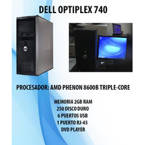 Dell Optiplex 740, 2gb En Ram 250 Disco Duro Monitor De 15