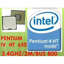 Procesador Pentium Iv Soket 775 650 Ht 3.40ghz/2m/bus800