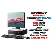 Computadoras Baratas Hp Core2 - 2gb - 160gb Pantalla Plana
