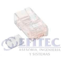 Efi-acccable25 Conector Rj45 Cat6 Utp Bolsa Con 100pz Efitec