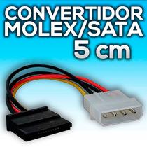 Cable Convertidor Energia Molex A Sata 5 Cm Bolsa Individual