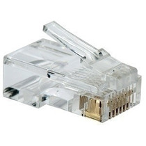 Plug Conector Rj45 Para Cable Red Utp Cat 5e 50 Piezas