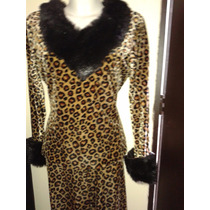 Disfraz De Leopardo Dama Talla M Stretch Envio Gratis