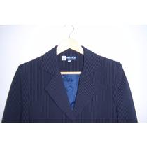 Conjunto De Saco Y Pantalón Novex T-6 Azul Con Rayas