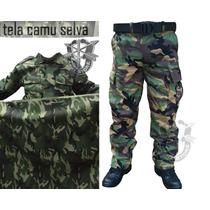 Tela Camuflaje Camu Selva Verde Militar Woodland Us Army