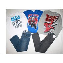 ~gymboree Tcplace Lote Playeras Y Pantalones Niño Talla 7 10