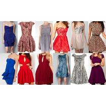 Lote De 10 Vestidos Cortos De Fiesta Etiquetados Para Dama