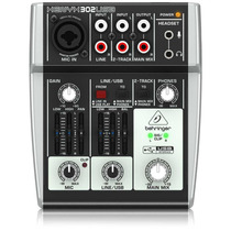 Mixer Behringer 302usb 5 Canales Usb Interface Preamp Audio