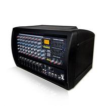 Profesional Mezcladora Amplificada 8 Canales 16 Efectos Eco