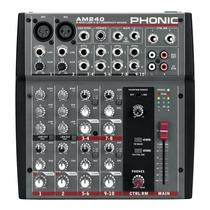 Mezcladora De Audio - Phonic Am240 - Nueva!