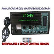 Amplificador Modulo Consola Para Audio Sonidos Usb Sd Mp3etc