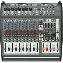 Consola Amplificada De 16 Canales 1600 W Behringer Pmp4000