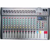 Mezcladora 12 Canales Profesional Reproductor Usb Sd
