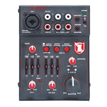 Mezcladora Kaiser 3 Canales Microfono Usb 2044usb