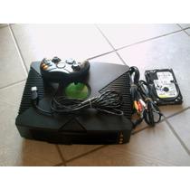Xbox De Microsoft Completo Con Un Control Y Cables