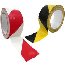 Rollo 2 Pulg 33m Cinta De Marcaje Adhesiva Pvc Bicolor Señal