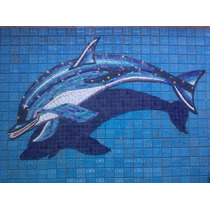 Mosaico Veneciano Delfin Moteado Con Sombra Para Alberca