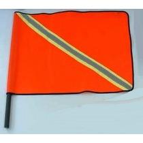 Banderola Vial Carreteras Construccion Malla Naranja