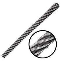 Cable De Acero Galvanizadoen Rollo 7x7 1/4 Y 75 Metros Obi