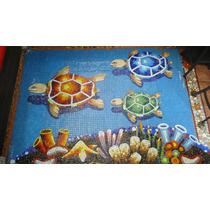 Mosaico Veneciano Tortuga Con Sombra Para Alberca