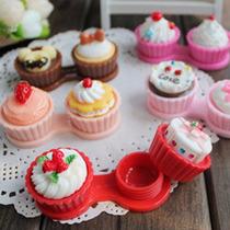 Case Estuche Porta Pupilentes Cupcakes Pasteles Moda Asia