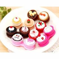 Case Estuche Porta Pupilentes Cup Cakes Pasteles Moda Japon