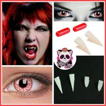 Pupilentes Lentes Fantasia Halloween Disfraz Cosplay Vampiro
