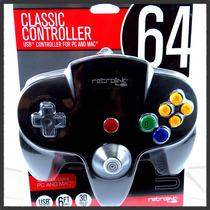 Control Nintendo N64 Usb Clasico Pc Y Mac Original Retrolink
