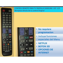 Control Remoto Tv Samsung Pantalla Led Lcd Smart Tv 3d