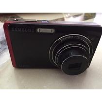 Camara Samsung St500 Con Cargador Y Cable Usb Roja