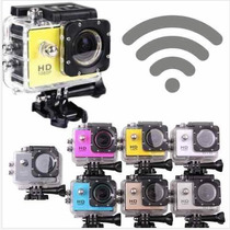 Camara Tipo Go Pro Wifi + Accesorios Sumergible 30m 12mp Hd