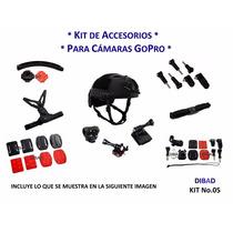Gopro - Kit Accesorios Moto / Bici / Patines - Casco Extremo