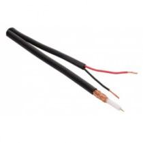 Cable Coaxial Siamés Rg59, De 75 Ohms Y 95% De Malla De Cobr