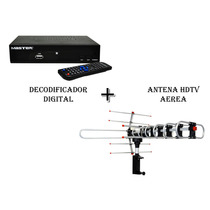 Kit Decodificador Digital + Antena Hdtv Para Exterior