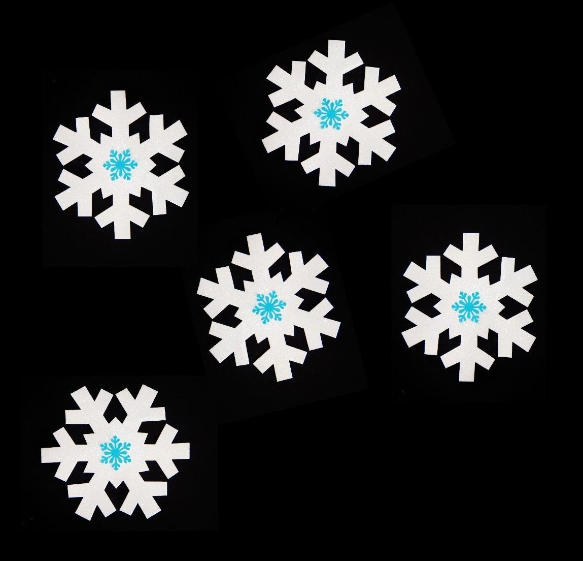 Copos nieve frozen goma eva foamy adorno navidad for Adornos navidenos mercadolibre