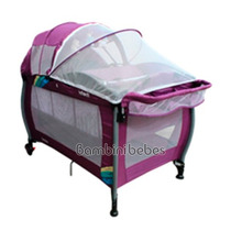 Cuna Corral Infanti Silver Con Sistem De Viaje Bambini Bebes