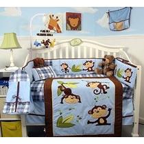Soho Juguetón Mono Cuna Nursery Bedding Set 14 Piezas