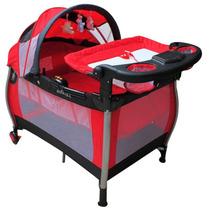 Cuna Corral De Viaje Jbp705 Roja Infanti