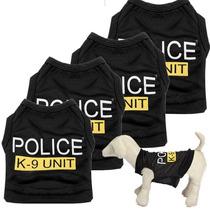 Playera Policia K-9 Unit Perro/gato Talla Chica