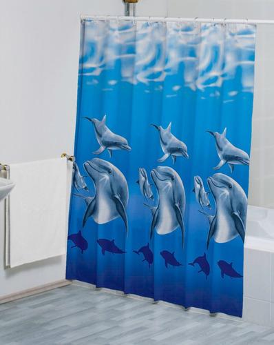 Cortinas De Baño Concord:Cortina De Baño Delfines 2 – $ 26900 en MercadoLibre