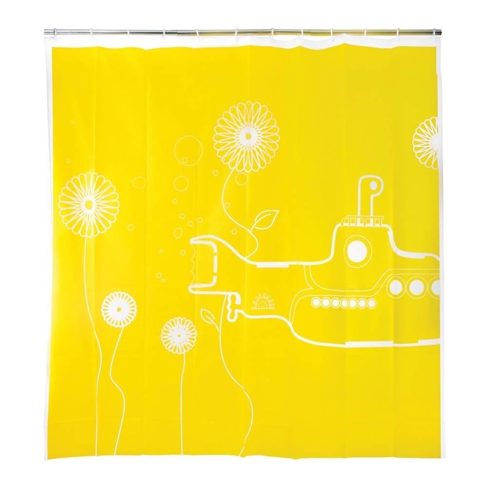Hacer Del Baño Moco Amarillo:Cortina De Baño Submarinio Amarillo Kikkerland Yellow Submar – $ 479