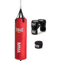 Kit De Costal De 70 Lb Everlast Mma Rojo