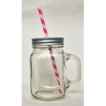 Jars 16oz Inserto Y Popote Decorativo
