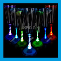5 Copas Champagna Luminosa Led Multicolor Vaso Champañera