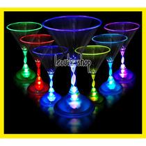 10 Copas Martini Luminosa Led Fiesta Bar Antro Rave Disco