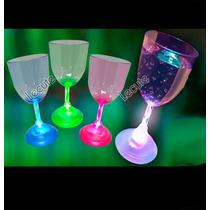 Copa De Vino Luminosa Led Multicolor Bar Antro Fiesta Rave